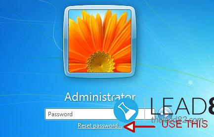 Forgot Windows 7 password use reset disk