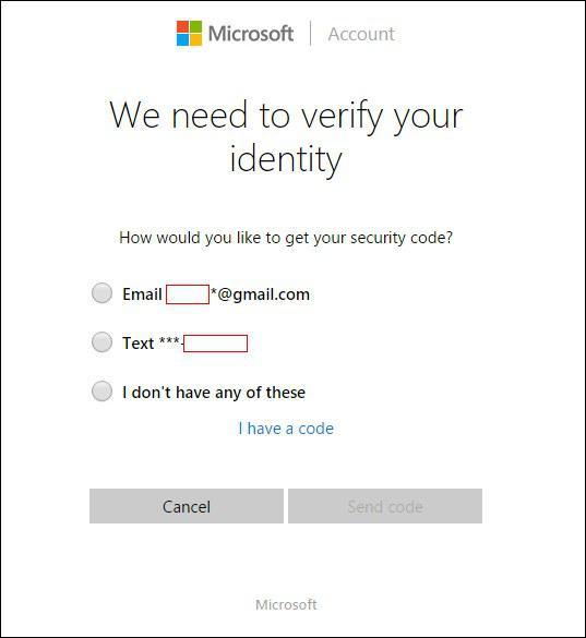 microsoft account verify your identity