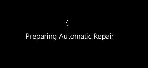 windows preparing automatic repair