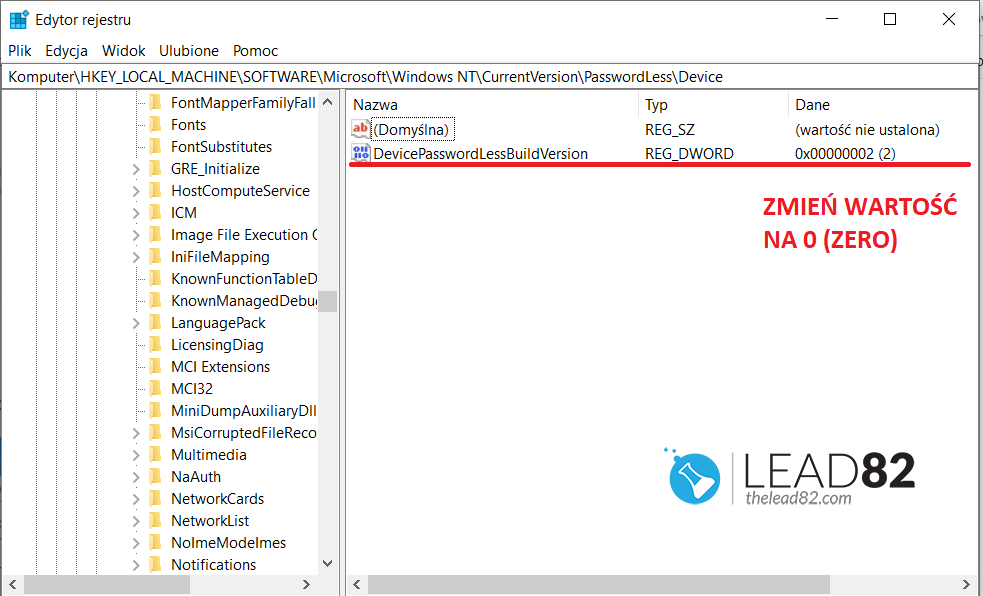 windows 10 edytor rejestru