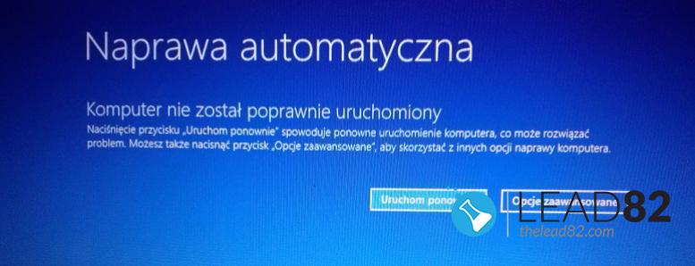 windows automatyczna naprawa opcje zaawansowane